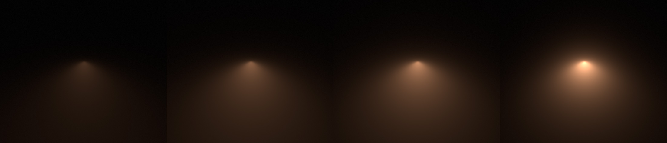 Lower to higher values of Mie scattering with a spot light. & Hx Volumetric Lighting azcodes.com